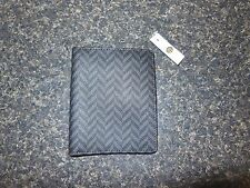 NWT FOSSIL CAMDEN SIGNATURE PASSPORT COVER CASE WALLET CHARCOAL BLACK SML1195010