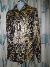 70s Jack Varney Beverly Hills Metallic Damask Gaudy Cuff Link Performance Shirt