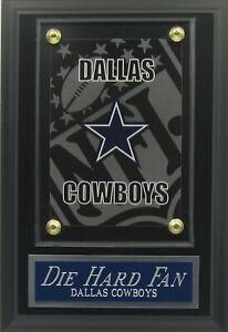 DIE HARD FAN DALLAS COWBOYS STAR LOGO CARD PLAQUE FOR YOUR MAN CAVE WALL DECOR