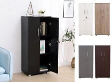 WestWood 3 Shelf Office Cupboard Storage with Lock Wood Filing Cabinet Organiser