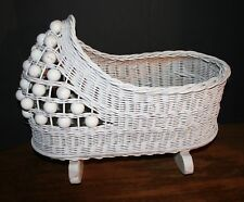 VTG Doll Wicker Cradle