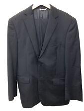 Yves Saint Laurent YSL Mens Navy Pinstripe Suit 40R Italian Excellent $1,500