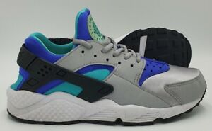 Nike Air Huarache Running Trainers 634835-008 Grey/Teal/Purple UK5/US7.5/EU38.5