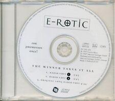 E-ROTIC - The winner takes it all 3TR PROMO CDM 1997 / EURODANCE / RARE!!