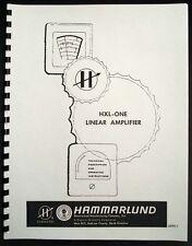 HAMMARLUND HXL-ONE Lineal Amplifier Manual
