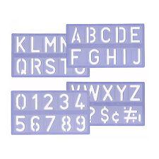 Schreibschablonen Malschablone Buchstaben Zeichen-Schablonen Schriftschablonen