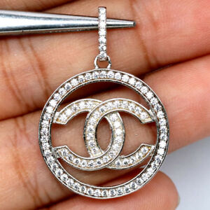 AAA WHITE CUBIC ZIRCONIA PENDANT 925 SILVER STERLING
