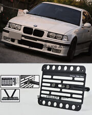 For 92-98 BMW E36 3-Series Non M3 Front Tow Hook License Plate Relocator Bracket