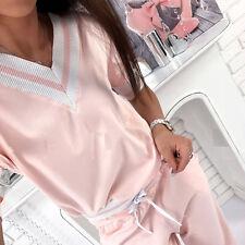 Womens 2pcs Casual Hoodies Hoody Pants Sets Sport Tracksuit Lounge Wear Suit Fit