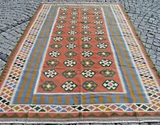 Large Size  Vintage   Shiraz  Qashqai Kilim Rug  78,3'' X 114,5'' Area  Rug