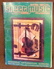 SHEET MUSIC MAGAZINE Volume 4 Number 4 April/May 1980