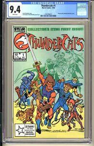 THUNDERCATS #1  CGC 9.4 NM WP  Marvel STAR Comics 1985 Based Animated TV series
