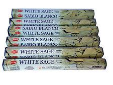 Hem White Sage incense Sticks x 6 Boxes -20 Sticks per Box (120) Pagan Smudge