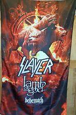 Slayer Huge 3 x 5 ft. Flag Banner Lamb of God Rock Metal man cave poster