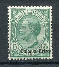 ERITREA ITALIAN COLONIES 1908-09 5c VARIETY SHIFTED Overprint MNH