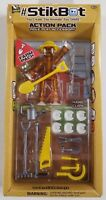 Stikbot Farm Pack Brown with Yellow Hat Brand New Unopened