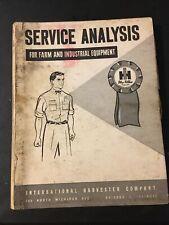 International Harvester Service Analysis Farm Equip 1963 Print Preowend Tractor