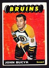 1965-66 TOPPS #101 JOHNNY BUCYK BRUINS
