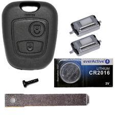 Auto Schlüssel Gehäuse Fernbedienung Citroen Peugeot Rohling VA2 + Batterie