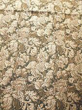 ancien tissu french textile tissé décor fleurs style renaissance époque 1900 usé