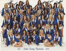 DALLAS COWBOYS CHEERLEADERS SIGNED 8x11 PHOTO+COA  ABIGAIL KLEIN+MELISSA RYCROFT
