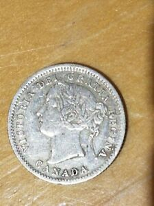 1858 Silver Canadian Dime high grade