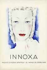 """""""INNOXA"""" Annonce originale entoilée Mariette LYDIS 1938 24x34cm"""