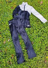 ALPHA FACTOR WARM UPS CASSANDRA JACKET + Mid-Rise Boot Cut Pants SZ CHILDS SMALL