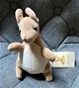 Classic Pooh Kanga Plush Rattle Stuffed Animal By Gund - NEW