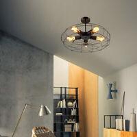 Industrial Cage Ceiling Fan Light Fixtures Ceiling Light Pendant Lamp Chandelier