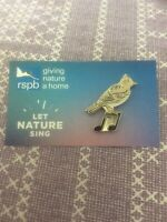 RSPB Pin Badge Let Nature Sing Skylark Northern Ireland