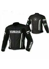 YAMAHA MOTORBIKE LEATHER JACKET / MOTORCYCLE LEATHER JACKET BLACK