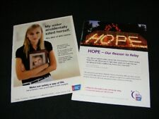 AMERICAN CANCER SOCIETY magazine clippings print ads from 2005 2006 & 2007