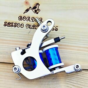"""""""CUT-BACK LINER"""" (NICKEL PLATED) BORDER TATTOO MACHINE,SUPREME FRAME 8 LAYER COI"""