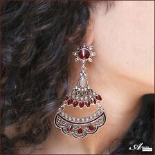 "Boucles d'oreilles fantaisie ""Jaipur"" (bijou indien Bollywood indian earrings)"