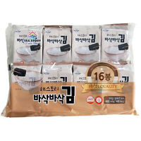[JinHyunFood] Korean Traditional Roasted Seasoned Seaweed Laver Snack 4g × 16ea