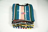Guess T Shirt Stripe Pattern Mens Oversized