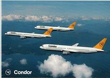 AK - Postcard  -  New / Unused -  Condor  -  Boeing 767  &  Boing 757 -  I