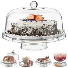 6 en 1 Sostenedor Soporte de Exhibición Estante Cupcake Pastel cúpula tapa de plástico Ensalada Bol