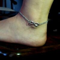Infinity Love Stainless Steel Anklet Chain Bracelet Women Beach Foot