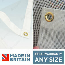 More details for heavy duty clear pvc tarpaulins bespoke made to measure any size ✅