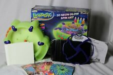 RoseArt Lightastic 3D Neon Glow Spin Art Used Toy