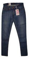 Levis 524 Junior Medium Skinny Jeans Too Super Low Stretch Med Blue B New