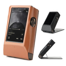 Astell&Kern AK380 AMP Hand Crafted MITER Stand Leather Case Cover-Brown Color