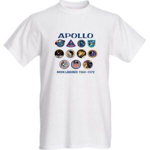 Celebrate NASA Apollo Moon Landing Missions (1969-1972) Adult T-Shirt - White