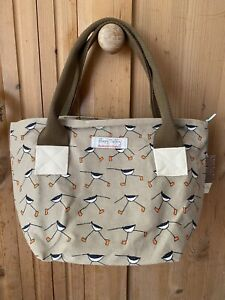 Poppy Treffry Oyster Catcher Print Long Rock Tote Made In England.