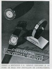 1939 Perret & Berthoud SA Universal Geneve Swiss Ad Publicite Suisse Montres
