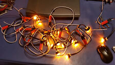 """Continuous Wiring Harness with 3/4"""" LED Hot Spot Light 12"""" Spacing Amber (per ft"""