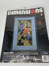 Dimensions Counted Cross Stitch Kit (Tropical Birds #3722) 7x14