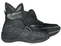 daytona Motorradschuhe Shorty | Schwarz | kurze Stiefel aus Rindleder